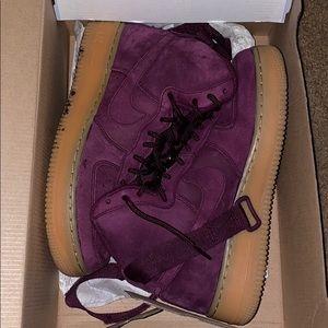 Velvet Nike high tops